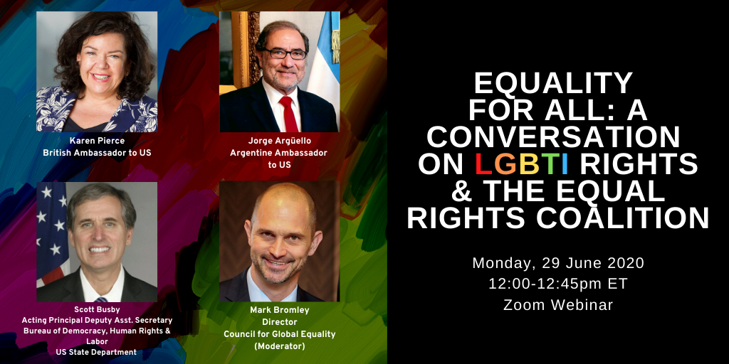 British Embassy Virtual Pride Campaign - A Conversation on LGBTI Rights and the Equal Rights Coalition - June 29