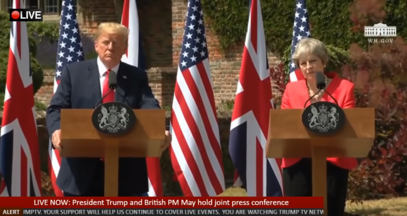 Pres Trump in UK